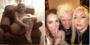 pijama party de Lady Gaga y Lindsay Lohan