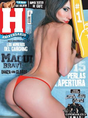 Magui Bravi en la Revista Hombre. Fotos y video del backstage