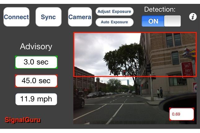 El celular permitiría evitar los semáforos en rojo