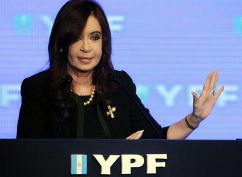 Cristina hablará por cadena nacional para inaugurar obras de YPF