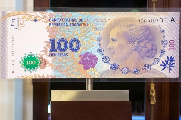 Los billetes de Evita están a punto de salir a la calle