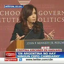 """Cristina Kirchner negó cepo cambiario en Argentina y dijo que """"la Constitución no permite mi re reelección"""""""