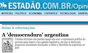 "Diario de Brasil acusa a Cristina Kirchner de establecer una ""democradura"" en la Argentina."