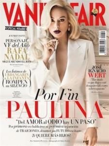 Paulina Rubio  en la portada de Vanity Fair