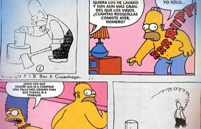Homero Simpson es un plagio?