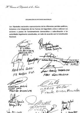Todo el arco político pide a gendarmes y prefectos que respeten las pautas de la democracia