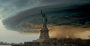 Esta es la foto falsa que anda circulando en las redes sobre el huracán Sandy