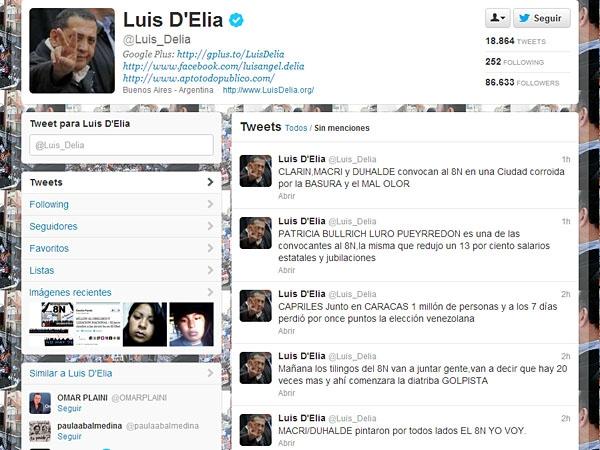 """D'Elía: """"Mañana los tilingos del 8N comenzarán con la diatriba golpista"""""""