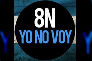 """""""8-N Yo no voy"""" la contracara en la web"""