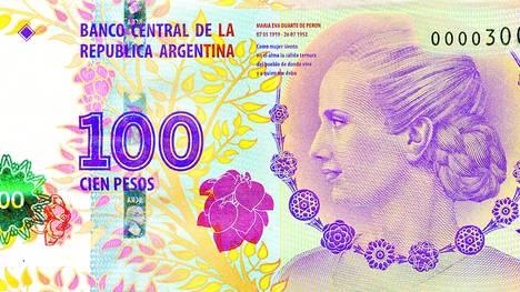 Problemas con los nuevos billetes de Evita
