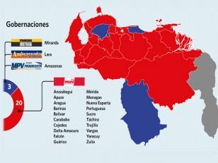 El Chavismo ganó 20 de las 23 gobernaciones
