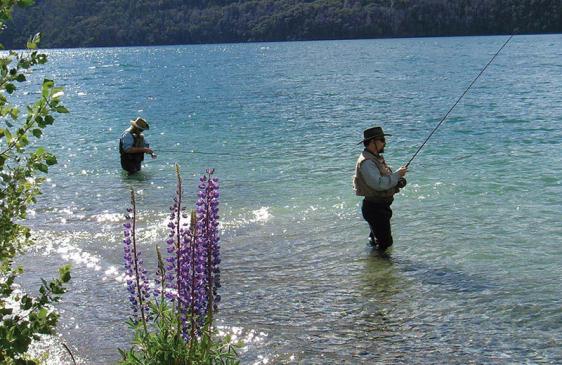Pesca en el Parque Nacional Nahuel Huapi