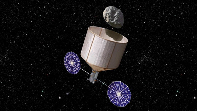 La NASA planea capturar un asteroide y montar en su superficie una estación espacial