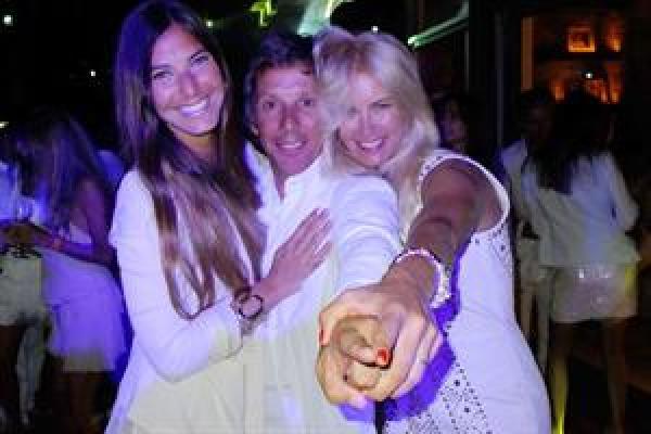 La fiesta de blanco de Valeria Mazza y Alejandro Gravier en Punta de Este