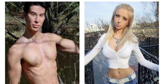 Barbie y Ken humanos se acusan mutuamente de ser demasiado falsos