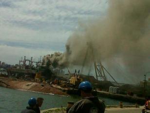 Explosión en el puerto de Mar del Plata