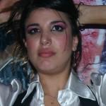 Las fotos de Andrea Rincon con la nariz manchada de blanco