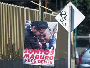 "Venezuela: Aparecen afiches con leyenda ""Maduro presidente"""