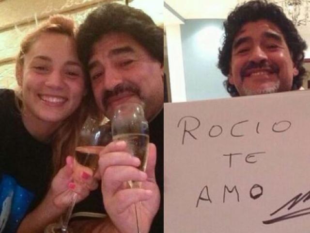 Maradona espera otro hijo de Rocio ?