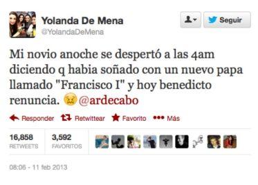 Este simple tuit habría vaticinado la llegada del nuevo papa Francisco