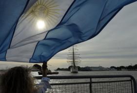 La Fragata Libertad arribó al puerto de Buenos Aires