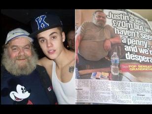 El abuelo de Justin Bieber vive en la pobreza total y no recibe ayuda de su nieto