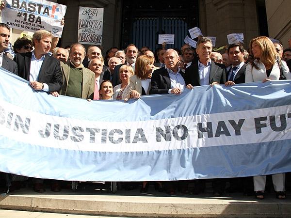 La oposición se unió en defensa de la independencia judicial