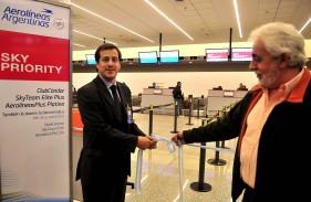 Aerolíneas Argentinas inaugura su servicio preferencial de Skyteam