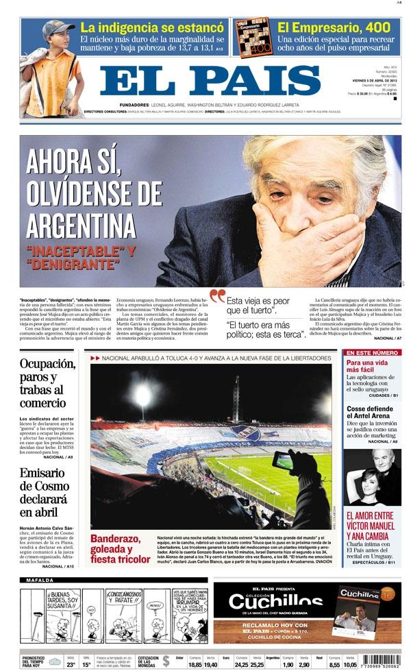 """Mujica: """"Ahora sí, olvídense de la Argentina"""""""