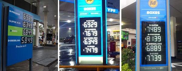 YPF subió el precio de sus naftas en el primer día del congelamiento