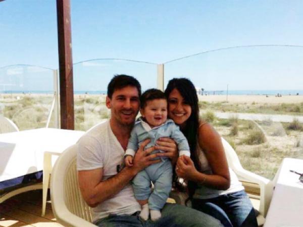 tierna foto de Messi
