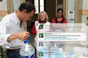 """El intendente de La Plata anunció que """"asistía"""" a evacuados, pero estaba en Río de Janeiro"""
