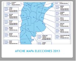 Afiche Mapa de las Elecciones 2013