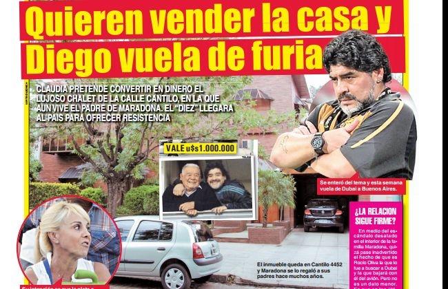 La venta de la casa de los padres de Diego Maradona en Villa Devoto