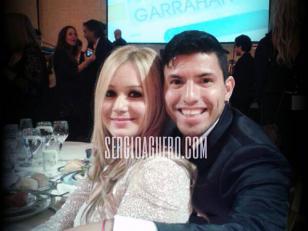 Foto: El Kun Agüero y Karina La Princesita, juntos en la gala de la Fundación Garrahan