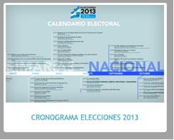 Cronograma Electoral Nacional 2013 en Argentina