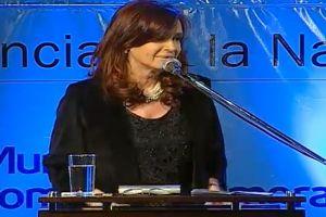 """Cristina: """"Me llama la atención que siempre haya dirigentes intocables"""""""