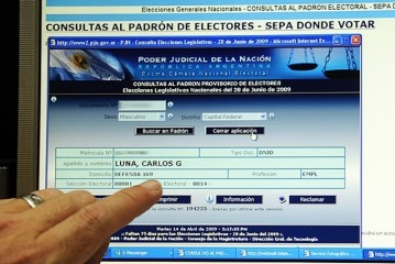 Consultar los padrones provisorios para las elecciones de Octubre 2013