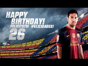 Messi cumple 26 años