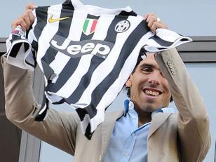 Tevez tendrá la camiseta número 10 en la Juventus