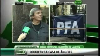 Caso Angeles: Curioso video en el que habla el padrastro justo en el momento que se entera de lo ocurrido