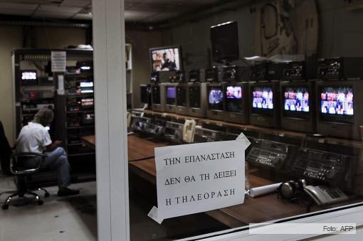 El gobierno griego avanza en el desmantelamiento de la TV pública