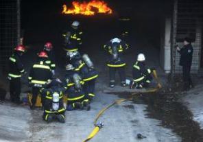 Simulacro de evacuación de incendio de subtes