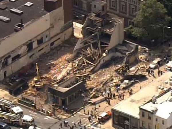 Derrumbe en Filadelfia