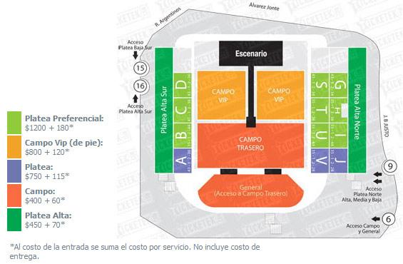 Quejas contra Ticketek Argentina por el concierto de One Direction