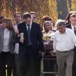 Las fotos de los familiares y amigos en el entierro de Angeles Rawson