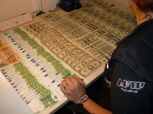AFIP secuestra dólares, pesos, reales y euros