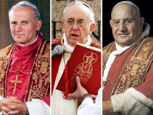 Papa Francisco autorizó la canonización de Juan Pablo II y Juan XXIII