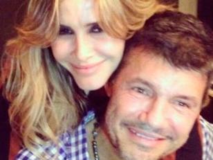 Las fotos de Tinelli y Guillermina Valdés en Twitter