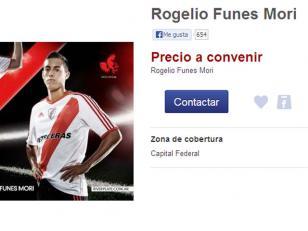 Hinchas de River venden a Funes Mori por internet